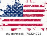 grunge usa flag | Shutterstock .eps vector #76324723