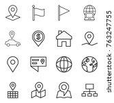 thin line icon set   pointer ... | Shutterstock .eps vector #763247755