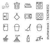 thin line icon set   chemical... | Shutterstock .eps vector #763248352