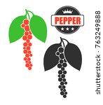 black pepper. isolated pepper...   Shutterstock .eps vector #763249888