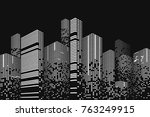building and city illustration. ...   Shutterstock .eps vector #763249915
