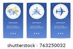 e shopping set of mobile apps... | Shutterstock .eps vector #763250032