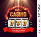 casino banner with a retro... | Shutterstock .eps vector #763254166