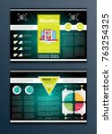 modern vector abstract brochure ... | Shutterstock .eps vector #763254325