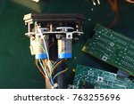 the servos are components of... | Shutterstock . vector #763255696