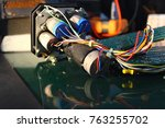 the servos are components of... | Shutterstock . vector #763255702