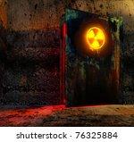 open danger door with radiation ...   Shutterstock . vector #76325884