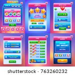 mobile game  ui vector... | Shutterstock .eps vector #763260232