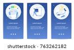 e shopping set of mobile apps... | Shutterstock .eps vector #763262182