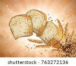multi grain toast design... | Shutterstock .eps vector #763272136