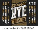 vintage style modern font ... | Shutterstock .eps vector #763273066