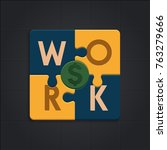 work is equal to financial... | Shutterstock .eps vector #763279666