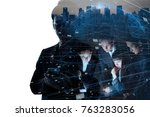 ai  artificial intelligence ... | Shutterstock . vector #763283056