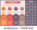 maternity infographic timeline... | Shutterstock .eps vector #763287646