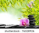 spa concept with zen stones and ... | Shutterstock . vector #76328926