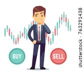 young man trader and business... | Shutterstock .eps vector #763291438