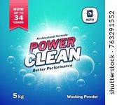 washing powder. detergent... | Shutterstock .eps vector #763291552
