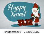 santa claus. sale merry...   Shutterstock .eps vector #763292602