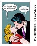 Lovers Embrace. Stylization...