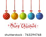 color christmas balls for your... | Shutterstock .eps vector #763294768