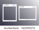 photo frame vector... | Shutterstock .eps vector #763295272