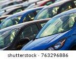 car industry concept. brand new ... | Shutterstock . vector #763296886