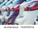 new cars production and sales... | Shutterstock . vector #763296916