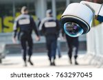 security cctv camera or... | Shutterstock . vector #763297045