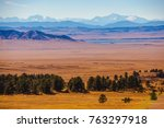 Scenic Central Colorado Landscape with Eleven Mile Reservoir in the Valley. - stock photo