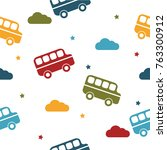 seamless colorful pattern.... | Shutterstock .eps vector #763300912
