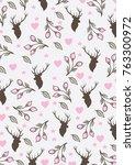 floral pattern print | Shutterstock .eps vector #763300972
