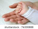 hands   mother and baby   Shutterstock . vector #76330888