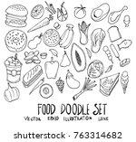 set of internet illustration... | Shutterstock .eps vector #763314682