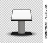 realistic 3d interactive... | Shutterstock .eps vector #763317205