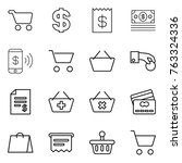 thin line icon set   cart ... | Shutterstock .eps vector #763324336
