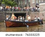 amsterdam   apr 30  city... | Shutterstock . vector #76333225
