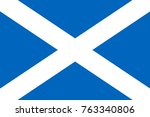 flag of scotland | Shutterstock .eps vector #763340806