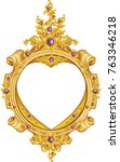 gold vintage frame isolated on... | Shutterstock .eps vector #763346218