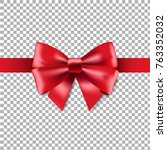 red ribbon isolated with... | Shutterstock .eps vector #763352032