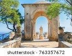 beautiful details of ravello... | Shutterstock . vector #763357672