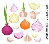 bright vector illustration of... | Shutterstock .eps vector #763362136