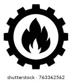 gas industry sign icon  vector | Shutterstock .eps vector #763362562