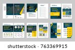 brochure creative design.... | Shutterstock .eps vector #763369915