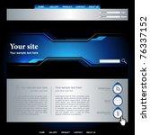 web site vector design template | Shutterstock .eps vector #76337152