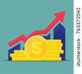 financial performance ... | Shutterstock .eps vector #763372042