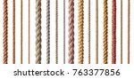 collection of  various ropes... | Shutterstock . vector #763377856