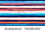 watercolor stripes in grunge... | Shutterstock .eps vector #763381042
