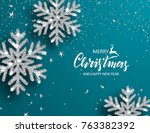 elegant christmas background... | Shutterstock .eps vector #763382392