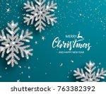 elegant christmas background... | Shutterstock .eps vector #763382392