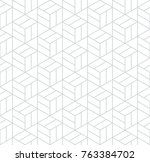abstract geometric pattern with ... | Shutterstock . vector #763384702